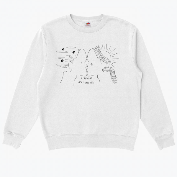 Sweat L'Amour n'attend pas Nade Illustrations