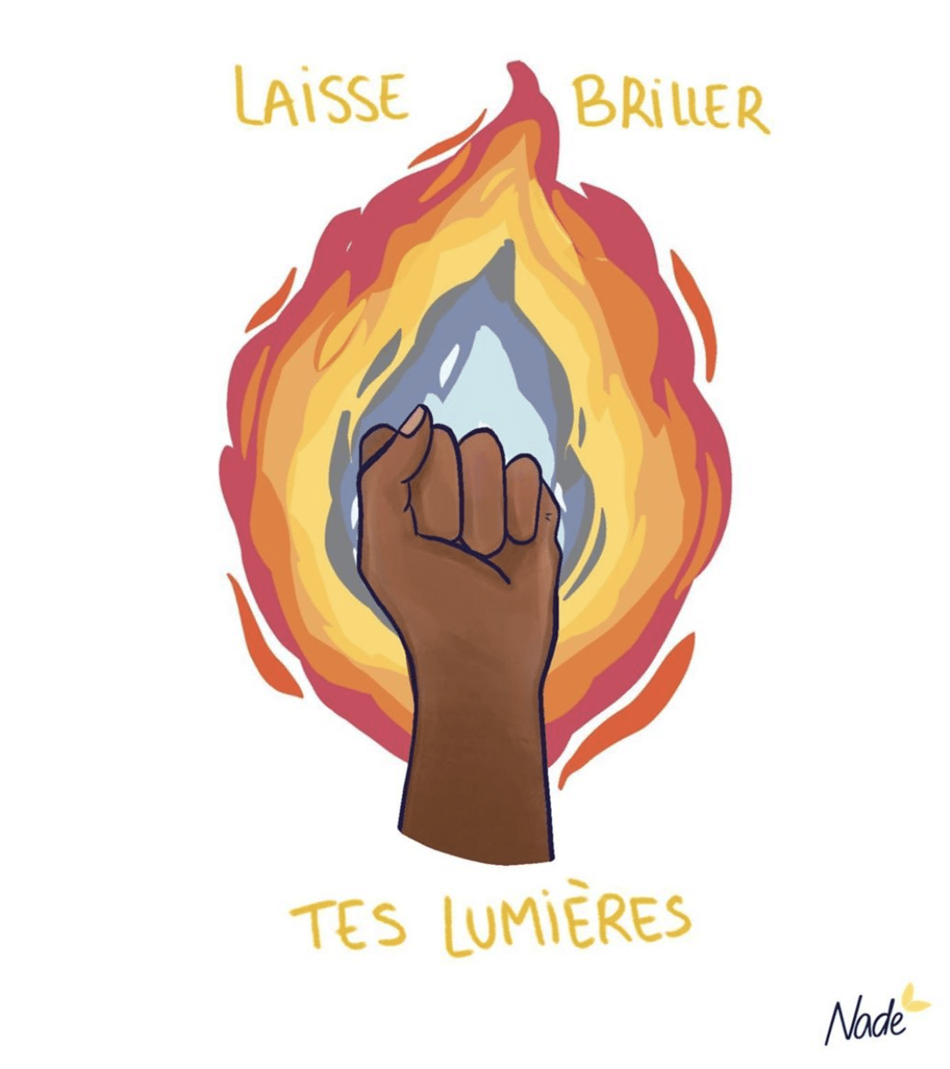 "Illustration ""Laisse briller tes lumières"" Nade Illustrations"